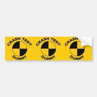 Crash Test Dummy Car Bumper Sticker