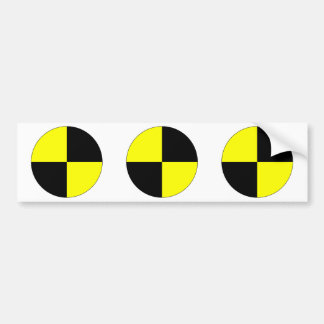 Crash Test Dummy Marker Car Bumper Sticker