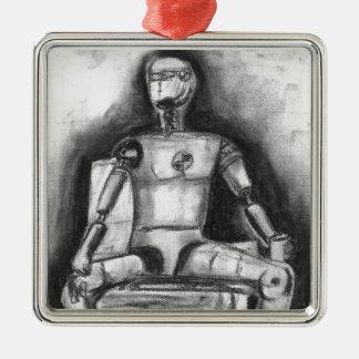 Crash Test Dummy Metal Ornament