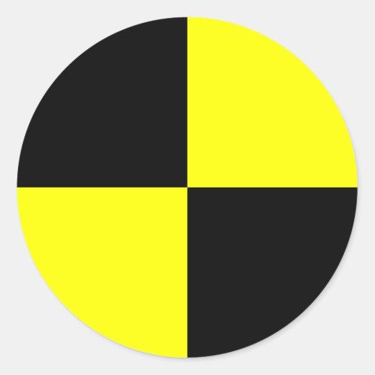 Crash test dummy stickers  black and yellow  Zazzle