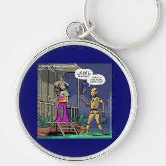 Crash Test Hippie Funny Keychain