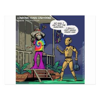 Crash Test Hippie Funny Postcard