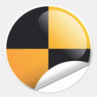 Crash Test Mark Round Sticker