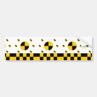 Crash Test Markers Bold Style Car Bumper Sticker