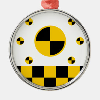 Crash Test Markers Bold Style Metal Ornament