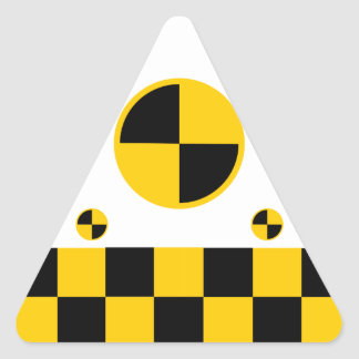 Crash Test Markers Bold Style Triangle Sticker