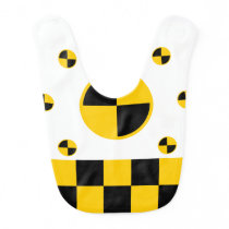 Crash Test Markers Graphics Baby Bib