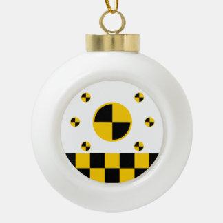 Crash Test Markers Graphics Ceramic Ball Christmas Ornament