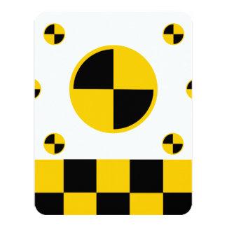 Crash Test Markers 4.25x5.5 Paper Invitation Card