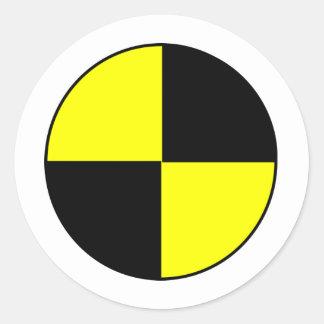 Crash Test Round Sticker