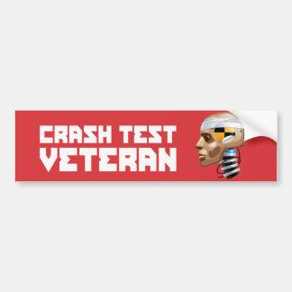 Crash Test Veteran Bumper Sticker