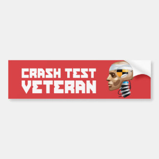 Crash Test Veteran Car Bumper Sticker