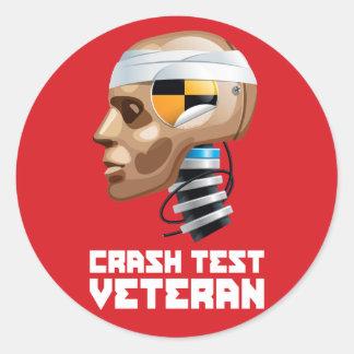 Crash Test Veteran Classic Round Sticker