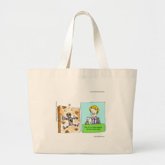 Crash Text Dummy Funny Tote Bags