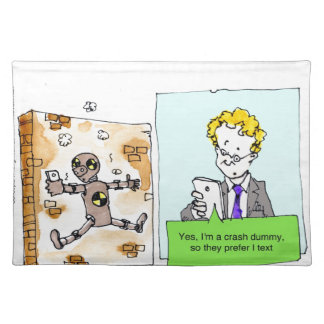Crash Text Dummy Funny Placemats