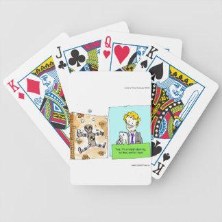 Crash Text Dummy Funny Poker Deck