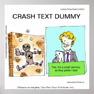 Crash Text Dummy Funny Poster