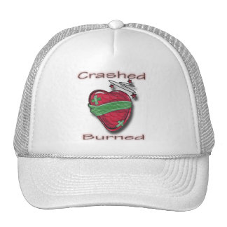 Crashed and Burned wounded heart Mesh Hats