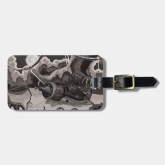 Crashed World War Fighter Aircraft Luggage Tag