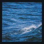 "Crashing Blue Waves Faux Canvas Print<br><div class=""desc"">Blue ocean wave peaks splattering</div>"
