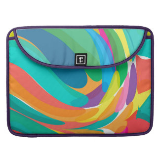 Crashing Colorful Waves Sleeve For MacBook Pro