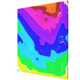 Crashing Colors Wrapped Canvas
