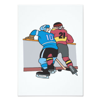 Crashing Into The Boards Card