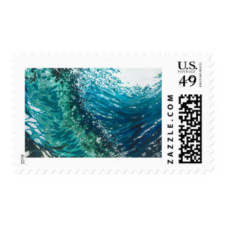 Crashing Surf Waves Postage Stamp by Margaret Juul
