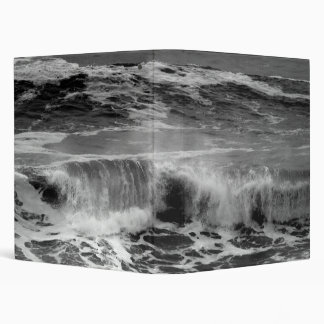 Crashing Wave Pacific Ocean in Monochrome Binder