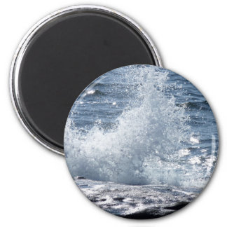 Crashing Waves 2 Inch Round Magnet