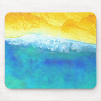 Crashing Waves Abstract Seascape Painting Mouse Pad