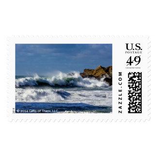 Crashing Waves at Big Sur - 20 Postage Stamps