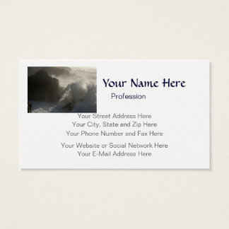 Crashing Waves At Shore Acres Oregon customizable Business Card