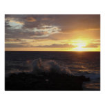 Crashing Waves at Sunset Posters