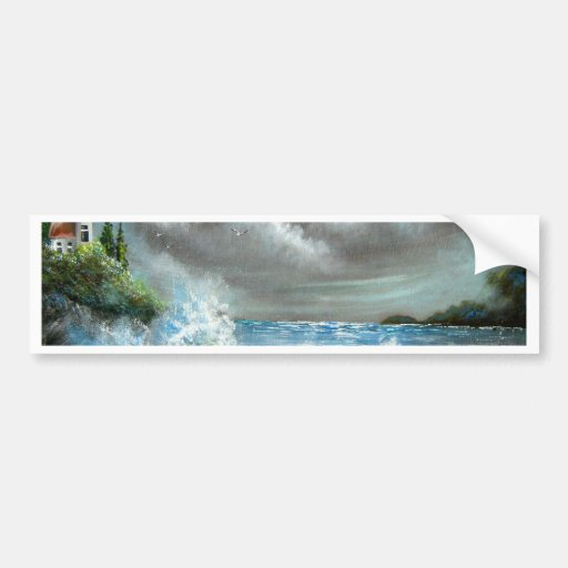 Crashing Waves Bumper Stickers