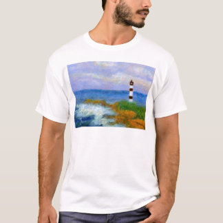 Crashing Waves by Lighthouse, Man's T-shirt/Shirt T-Shirt
