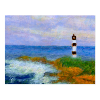 Crashing Waves by Lighthouse, Postcard