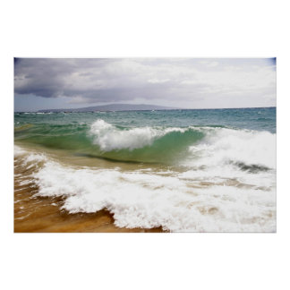 Crashing Waves in Maui Poster