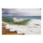 Crashing Waves in Maui Print