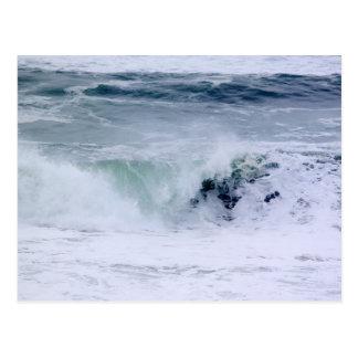 Crashing Waves of Pacific Ocean Beauty Postcard