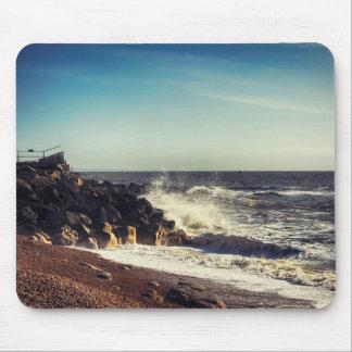 Crashing Waves on Rocks Mousepads