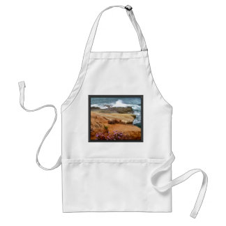 Crashing Waves on Rocky Outcropping Adult Apron
