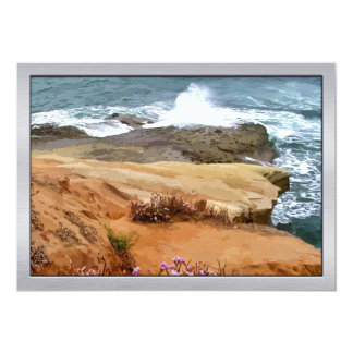 Crashing Waves on Rocky Outcropping Card