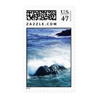 Crashing waves postage stamp
