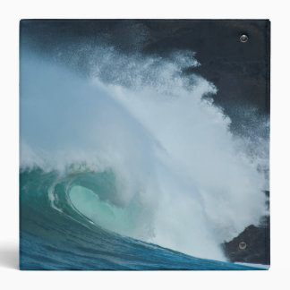 Crashing Waves Rocky Creek SP Oregon Pacific Ocean 3 Ring Binder