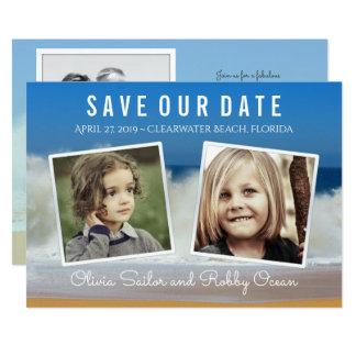 Crashing Waves Save the Date Multi-Photo Card