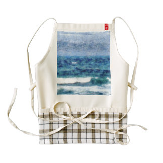 Crashing waves zazzle HEART apron