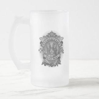 CrashleeTwins Frosted Glass Beer Mug