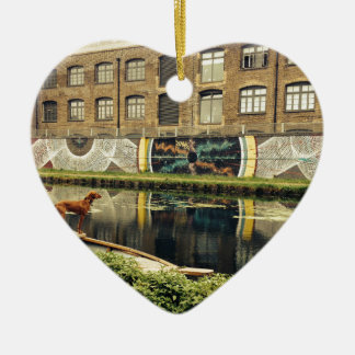Crate Brewery Canal Side River Lea Ceramic Ornament