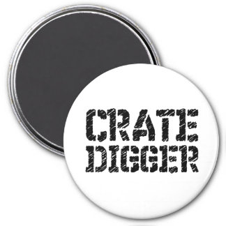 Crate Digger 3 Inch Round Magnet